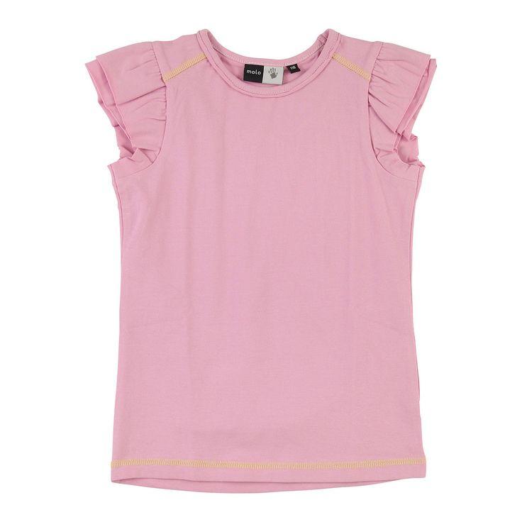 Molo Rafaela Blushing Pink Ruffle T-shirt