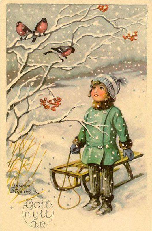Старинные открытки с новы, открытка день