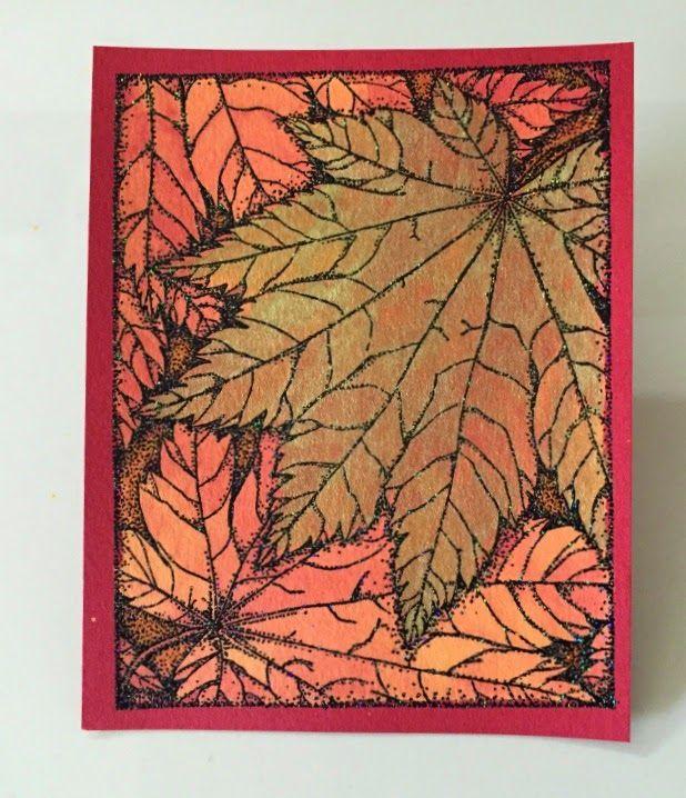One Layer Card-Bleach Technique- Bridget Larsen