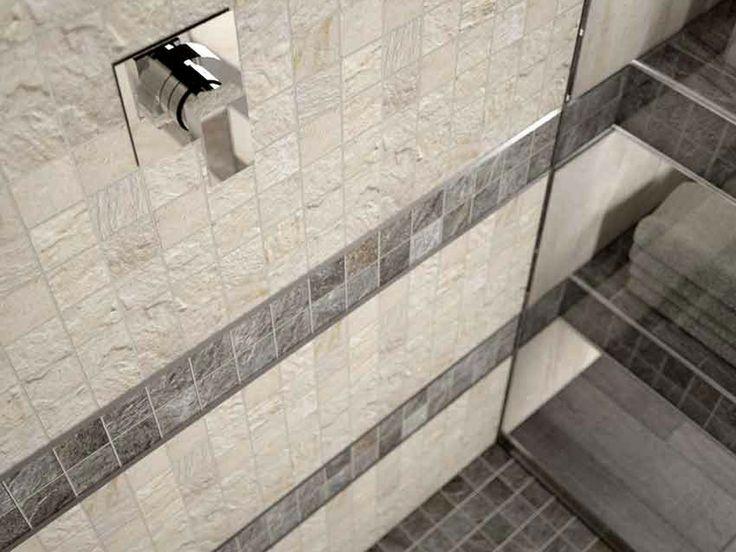 Dettaglio ambiente bagno rifinito con collezione golden light con tutto il fascino dei toni di - Stuccare piastrelle bagno ...