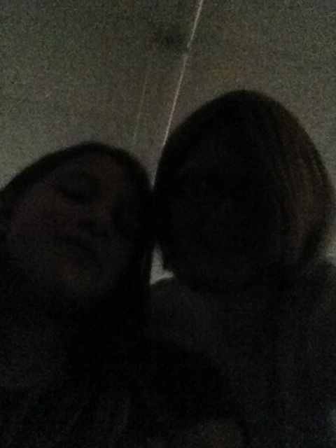 Me and Hayley at school free period to watch Olympics and she has to go to the hospital