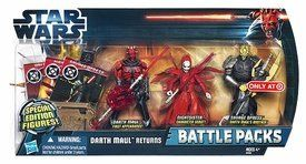 """Star Wars The Clone Wars Special Edition Exclusive 3.75"""" Action Figure Pack Featuring Nightsister , Darth Maul And Savage Opress by Hasbro. $10.90. Nightsister-character debut. Darth Maul-first appearance. Savage Opress-Darth Maul's Brother. Darth Maul Returns Battle Pack"""