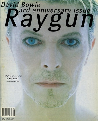 David Carson, Covers Magazines, Issues 30, Raygun Bowie, Ray Guns, Graphics Design, David Bowie, Davidcarson, Magazines Covers