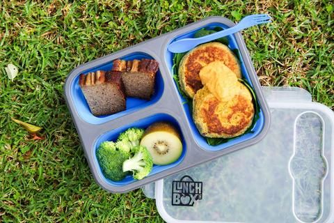 Silicone Collapsible Bento Lunch Box - BLUE - LunchBox Inc.
