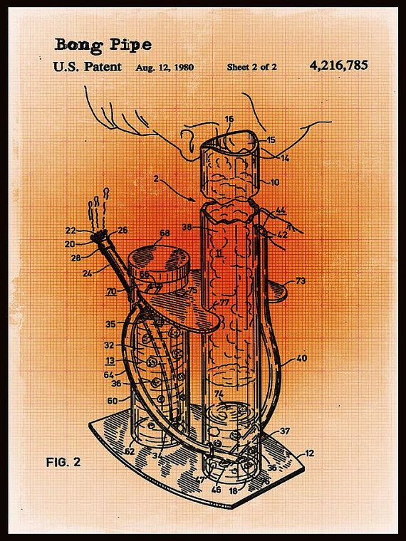 10 best cannabis images on pinterest cannabis blueprint drawing bong patent blueprint drawing sepia by tony rubino giclee print introducing the art of malvernweather