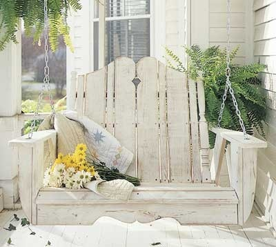 swingDecor, Ideas, Porch Swings, Shabby Chic, Outdoor, Gardens, House, Front Porches, Porches Swings