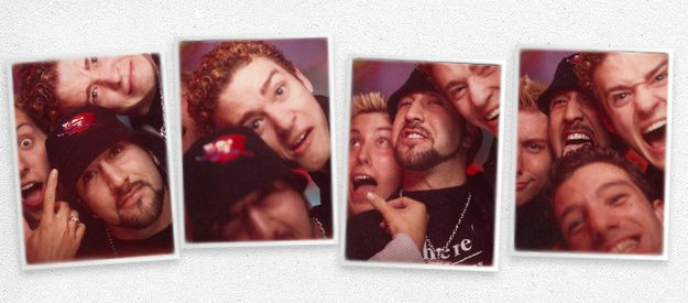 """*NSYNC   40 Awkward Photos From The """"TRL"""" PhotoBooth These are awesome lol"""