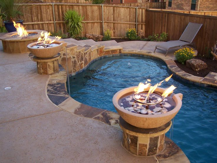 23 best images about fire and water features on pinterest - Pool fire bowls ...