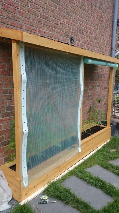 Ein Tomatenhaus ans Haus angelehnt – Bauanleitung zum Selberbauen – 1-2-do.com -…