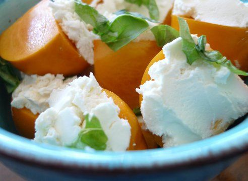 Persimmon Caprese Salad - Mike will love this!
