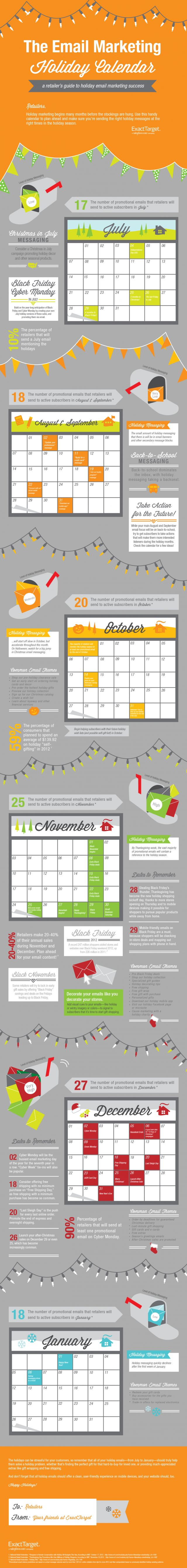 This email marketing holiday calendar infographic isn't just for retailers... it's the perfect cheat sheet for entrepreneurs, network marketers, MLM pros, direct sales people and small business owners!