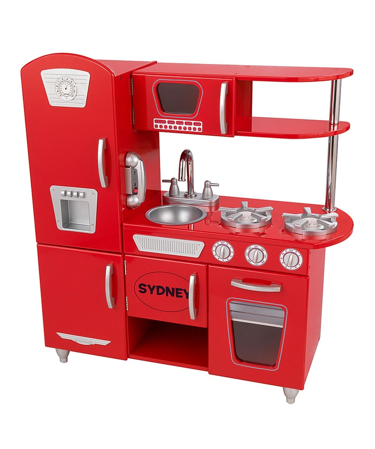 KidKraft Red Vintage Personalized Kitchen. Love the retro