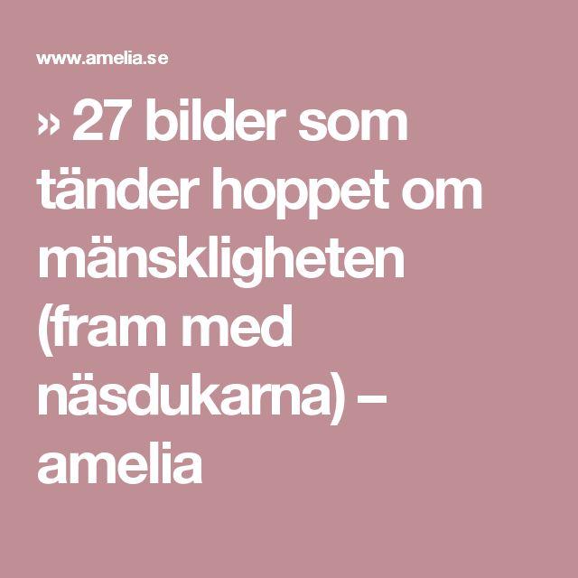 » 27 bilder som tänder hoppet om mänskligheten (fram med näsdukarna) – amelia