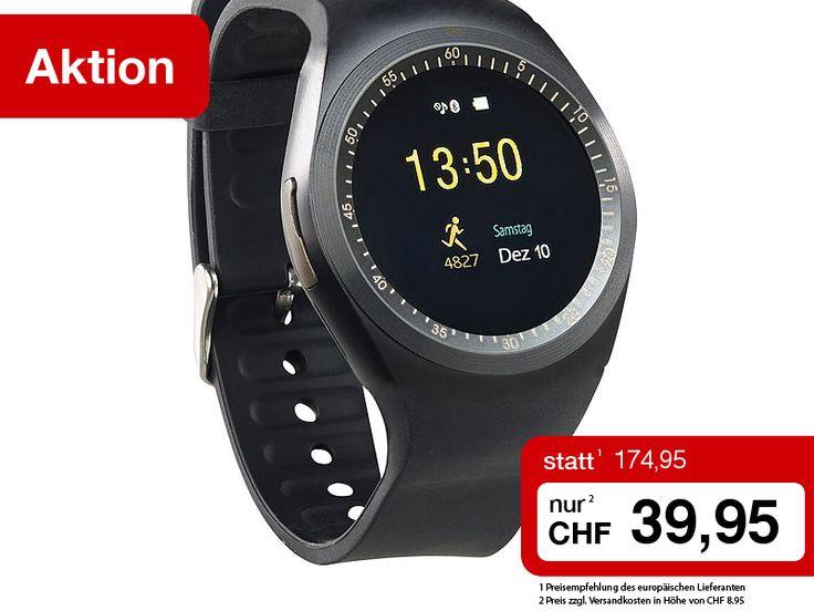 Sie erhalten die simvalley Smartwatch mit Telefon-Funktionen, Media-Player, Fitness-Trainer, Schlafüberwachung und zahlreichen Extras diese Woche zum Sonderpreis!  Jetzt bestellen: http://www.pearl.ch/so/search.do?catc1=1050-12+1400-12&pdid=CHA14557+CHA24557+CH626&vid=613&wa_id=26&wa_num=1