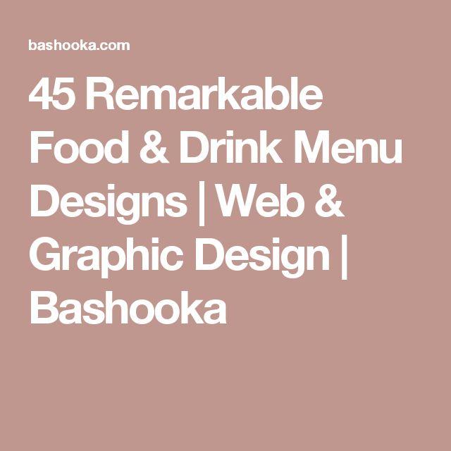 45 Remarkable Food & Drink Menu Designs   Web & Graphic Design   Bashooka