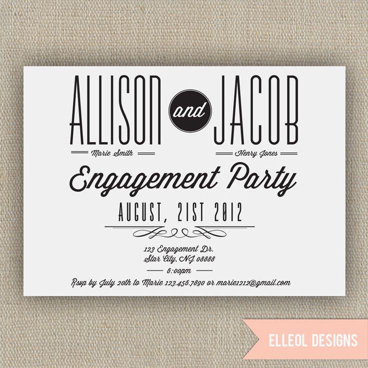 Best 25+ Engagement party invitations ideas on Pinterest   Diy ...