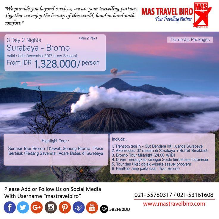 3D2N Surabaya - Bromo , Only from 1.328.000/Person , Book Now ! ;) #mastravelbiro #bromo #surabaya #tour #jatim