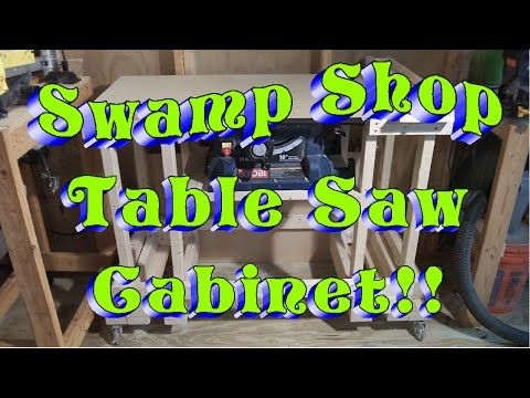 Swamp Shop Table Saw Cabnet!!