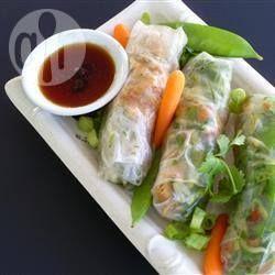 Recipe Picture:Satay Chicken Rice Paper Rolls