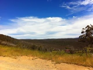 Beautiful countryside on the ride from Omeo to Dinner Plain, Victoria, Australia.