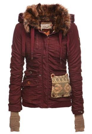 khujo Felice Chaqueta De Invierno Dark Red abrigos y chaquetas red Khujo…