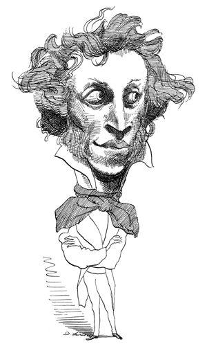 Пушкин смешные рисунки, днем