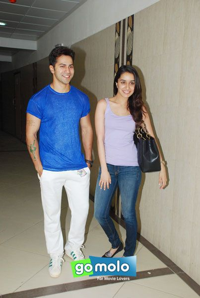 Varun Dhawan & Shraddha Kapoor at Rap song recording of Hindi movie 'ABCD 2' in Mumbai