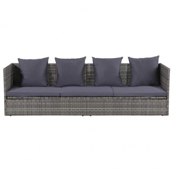 Garten Sofabett Poly Rattan Aussenmobel Polyrattan Garten Lounge Set
