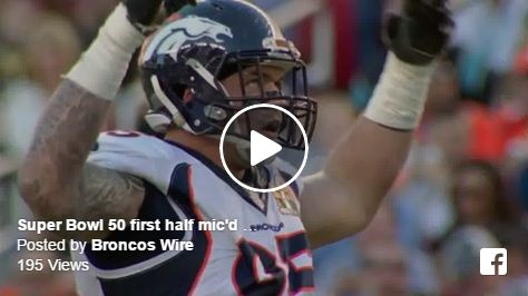 The Denver Broncos knocked off the Carolina Panthers 24-10 in Super Bowl 50 on Sunday, and NFL Films was on location. The mic'd up footage is here. It's glorious. See the second half fo…