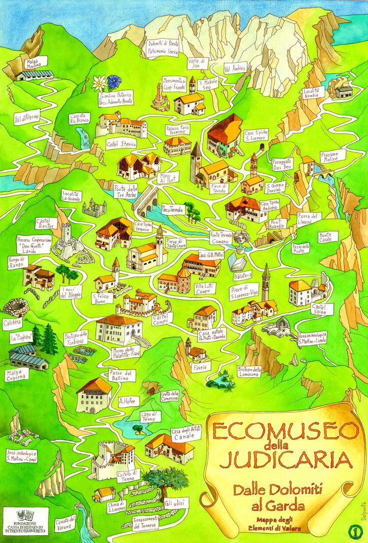 > Mappa dell'Ecomuseo della Judicaria