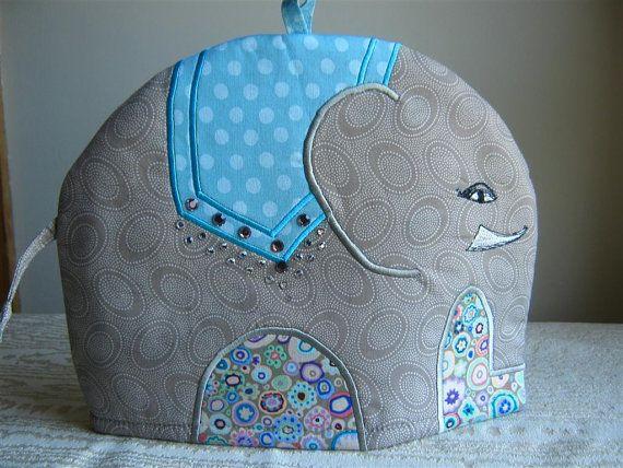 Raj an Embroidered Cotton Elephant Tea Cosy by RichardAndSon