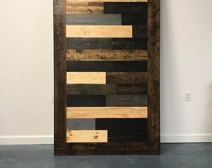 Custom Multi Stain Horizontal Plank Sliding Barn Door Barn Door Designs Lighted Bar Signs Basement Makeover