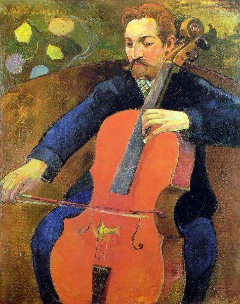 Paul Gauguin - Post Impressionism - Le violoncelliste - 1894