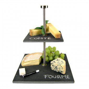 #design3000 Schieferplatte Etagere Gourmet. Ein Klassiker für Vorspeisen, Nachspeisen und Fingerfood!