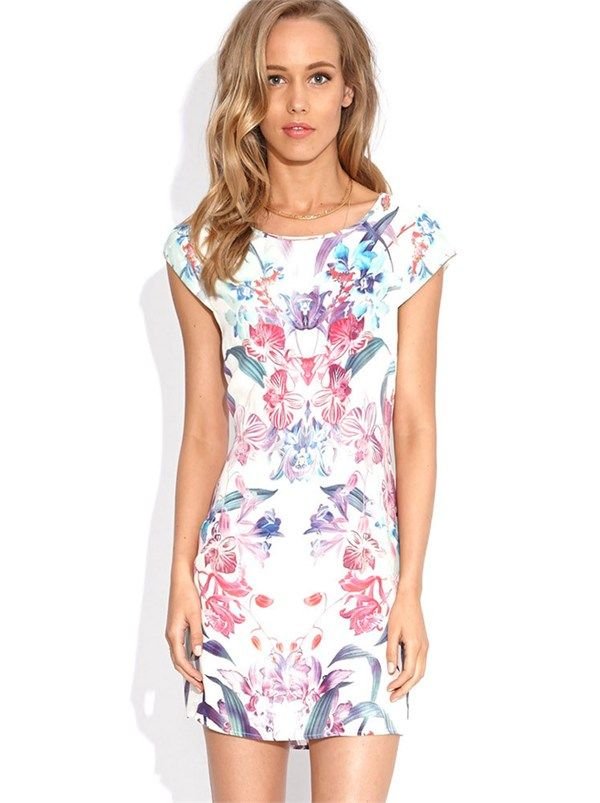 Orchid Shift Dress by Wish