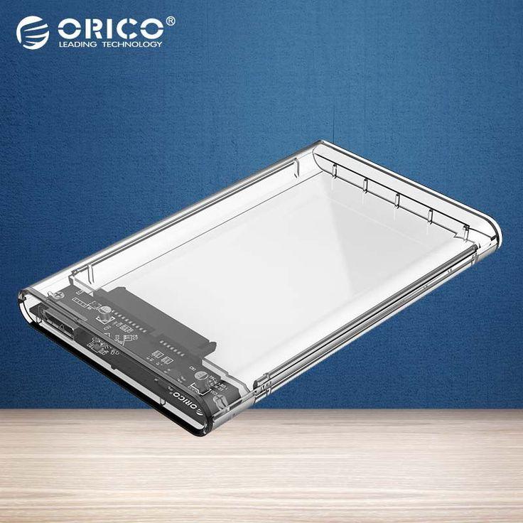 ORICO Прозрачный HDD Случае 2.5 дюймов USB3.0 к Sata 3.0 Инструмент бесплатно 5 Гбит Поддержка 2 ТБ Протокола UASP Жесткий Диск Корпуса (2139U3) купить на AliExpress