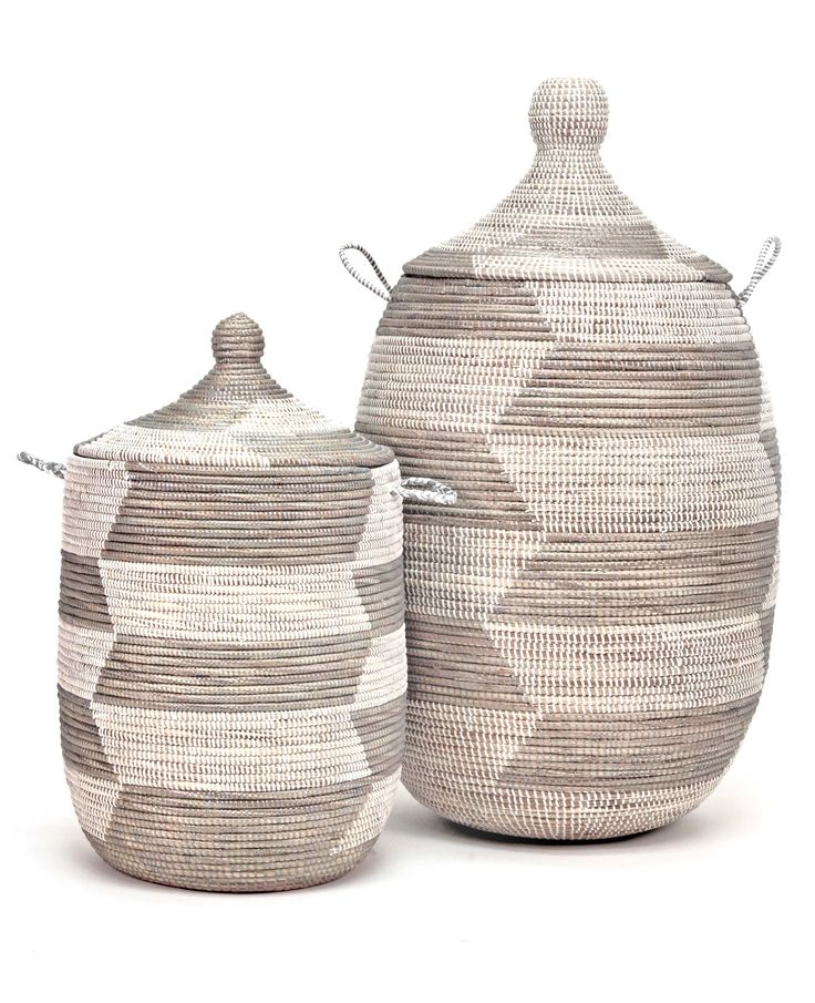 Luxury African Woven Baskets with Lids