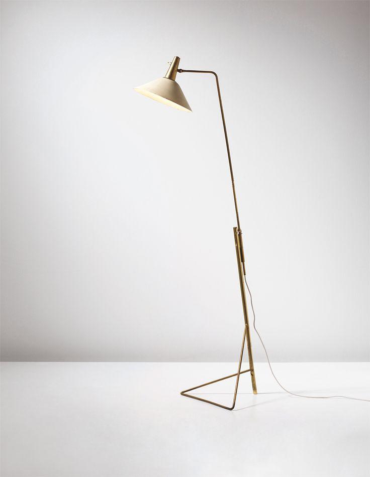 Gino Sarfatti floor lamp No.1045/VT (from the Casa Minerbi, Ferrara) for Arteluce, c. 1950 http://www.phillips.com/detail/GINO-SARFATTI/UK050213/160?fromSearch=gino%20sarfatti&searchPage=1