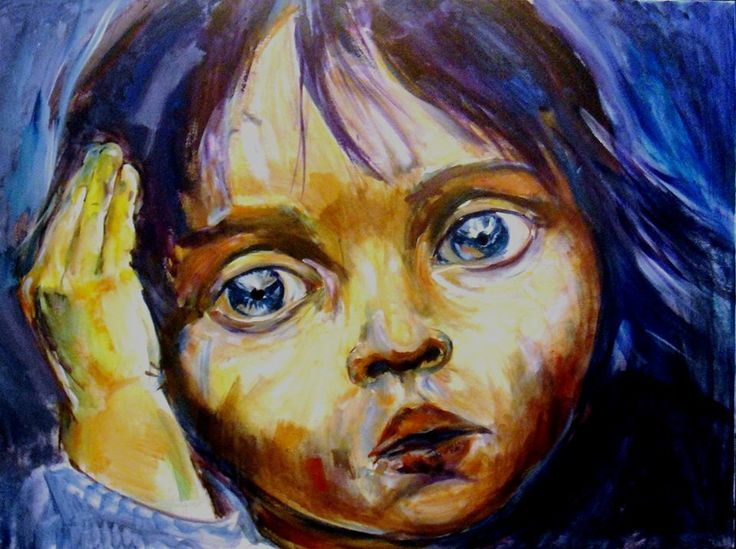 acrilic on canvas: blue eyes 60x80