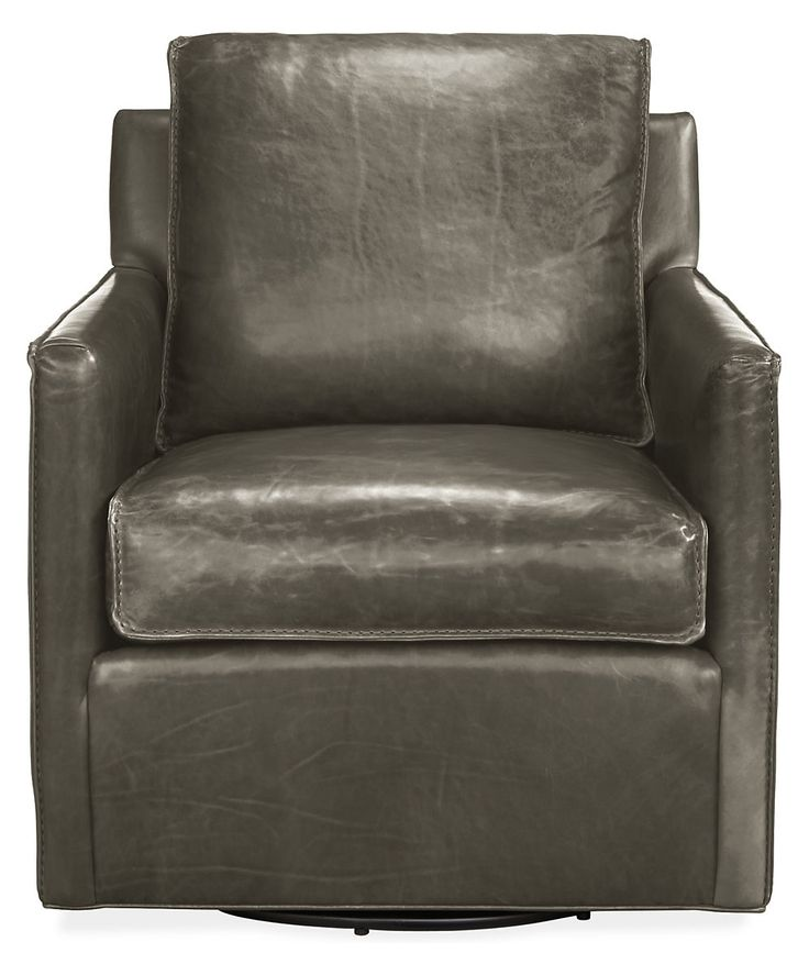 Bram Leather Swivel Chair - Modern Accent & Lounge Chairs - Modern Living Room Furniture - Room & Board