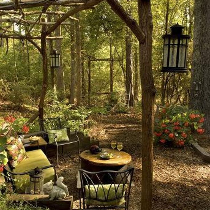this award winning outdoor space was created by recycling fallen trees recycled concrete well cover