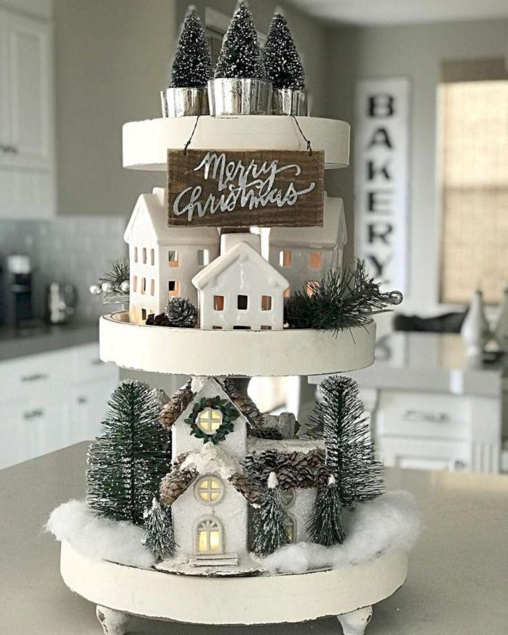 Cute farmhouse christmas decoration ideas 36 # farmhouse christmas decoration ideas #nette