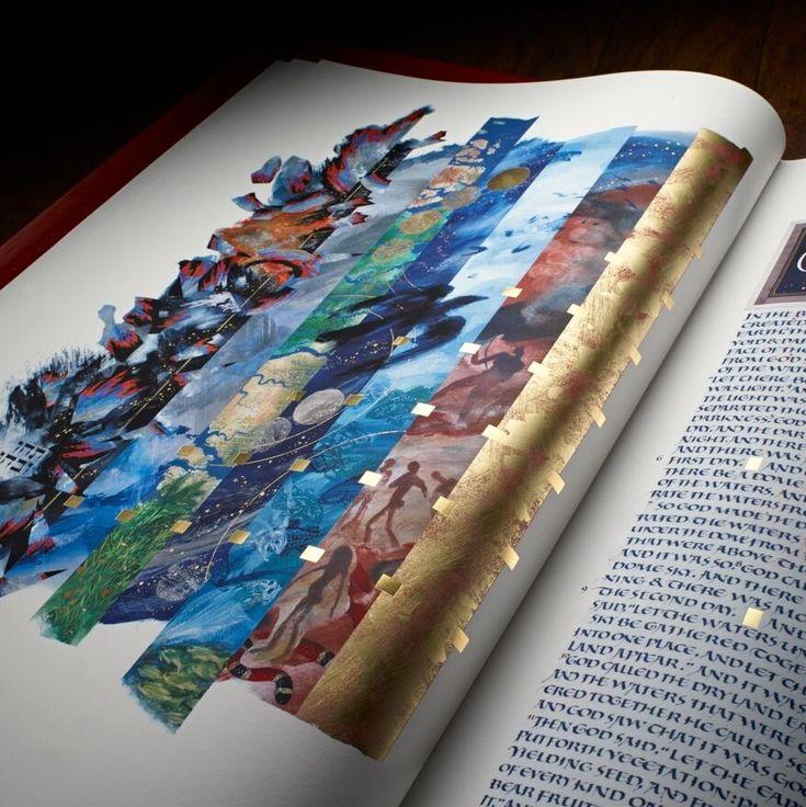 Creation, Donald Jackson, Copyright 2003, The Saint John's Bible, Saint John's University,Collegeville, Minnesota, USA. Used by permission.  All rights reserved.