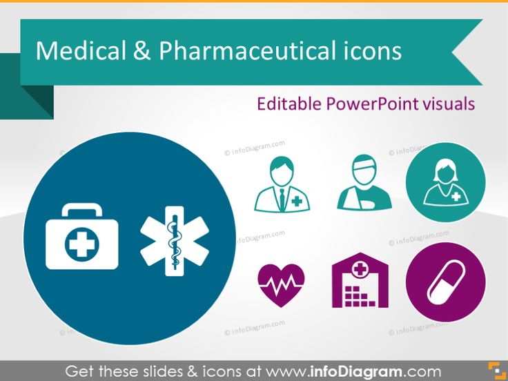 Health Care Medical and Pharmaceuticals Icons (PowerPoint clipart).  Medical personnel, doctor, nurse, patient, GP, dentist ... Medical facilities: Hospital, Pharmacy, Pharmacy Warehouse, Ambulance Medical injuries, tools, documents, biological research Pharmaceuticals production, distribution, storage, medicines, pills Sketched healthcare icons: hearth, cross, beaker Usage examples infographics diagrams. #powerpoint #template #theme