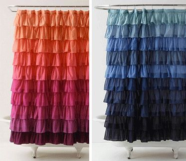 Ombre Ruffled Shower Curtain – Miss Scarlett