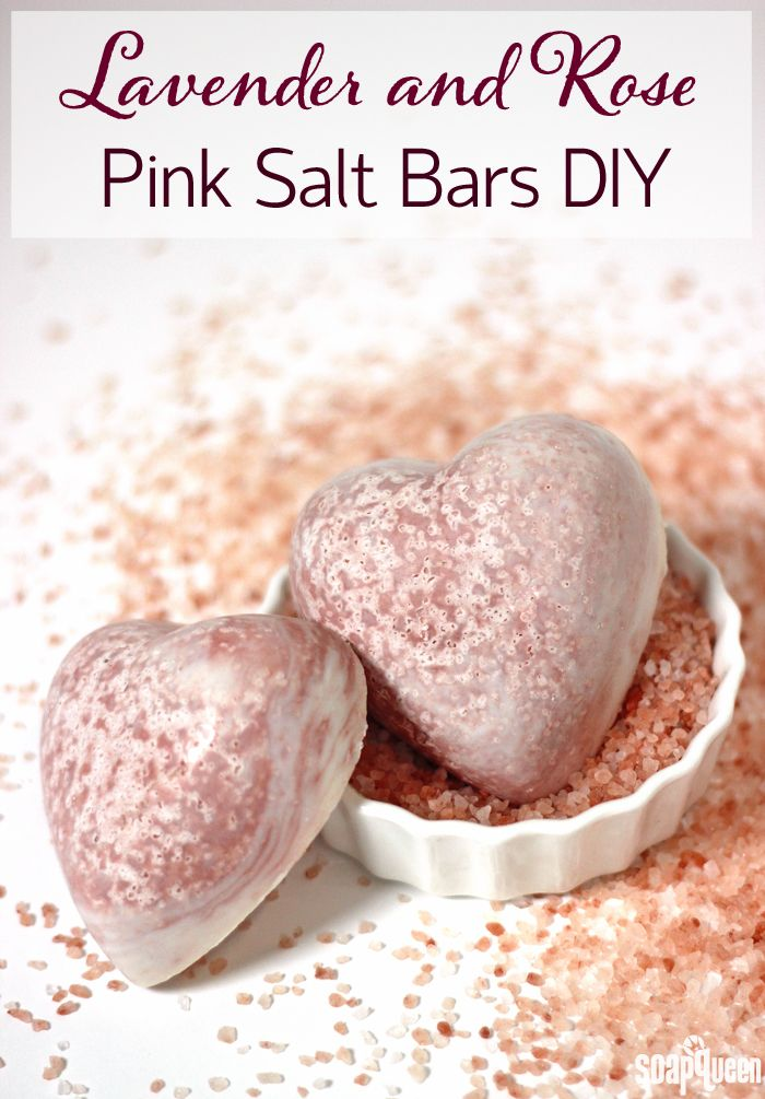 DIY Lavender and Rose Pink Salt Bars