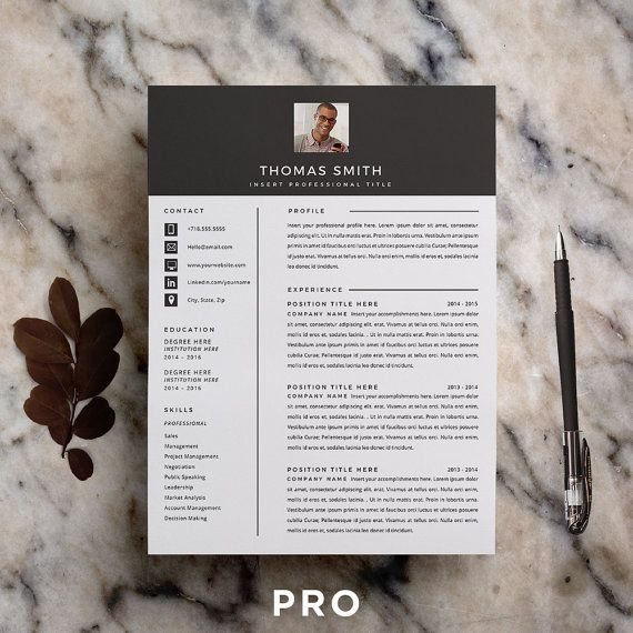 18 best Etsy - CV images on Pinterest - microsoft resume templates 2012