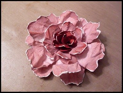 PAPER Flower Tutorial!!! UNIQUE uses glue to make the edges look rounded and puffy