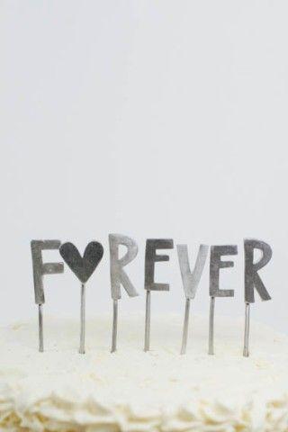 f♥rever cake topper | Lisa Leonard Designs