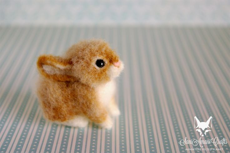 """SaniAmaniCrafts: Miniature bunny. VEGANIZE this, please! Art and creativity should NEVER support or condone animal cruelty and exploitation. Make sure your art/craft supplies aren't sourced from animals (such as """"wool"""" felt) and that they reflect a true reverence for life. Always use animal-free alternatives. Be kind. Be fair. Be vegan. www.vegankit.com and www.freefromharm.org"""